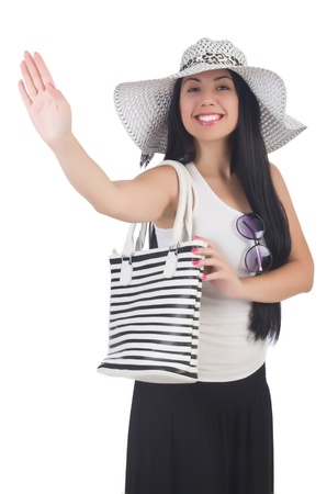 Young woman preparing for vacation Stock Photo - 21326496