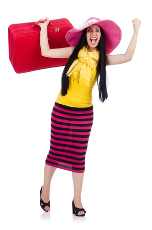 Young woman preparing for vacation Stock Photo - 21326486