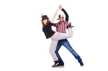 Pair of dancers dancing modern dances Stock Photo - 21324152