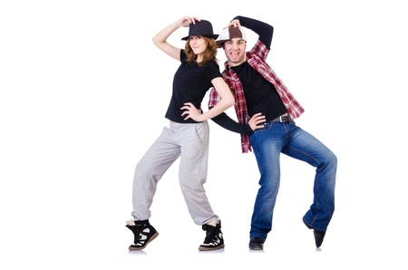 Pair of dancers dancing modern dances Stock Photo