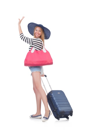 Young woman preparing for vacation Stock Photo - 21326406