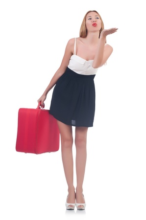 Young woman preparing for vacation Stock Photo - 21326831