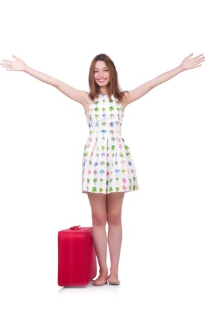 Young woman preparing for vacation Stock Photo - 21326931