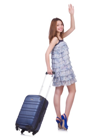 Young woman preparing for vacation Stock Photo - 21326930