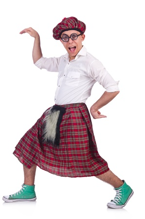 clan: Funny scotsman isolated on the white