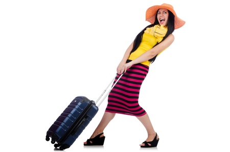 Young woman preparing for vacation Stock Photo - 21308678