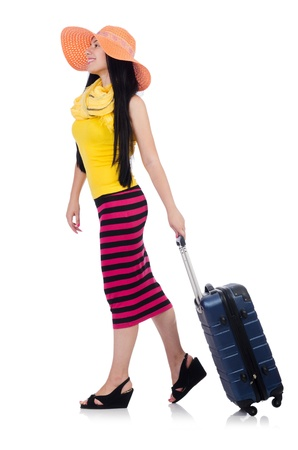 Young woman preparing for vacation Stock Photo - 21308679