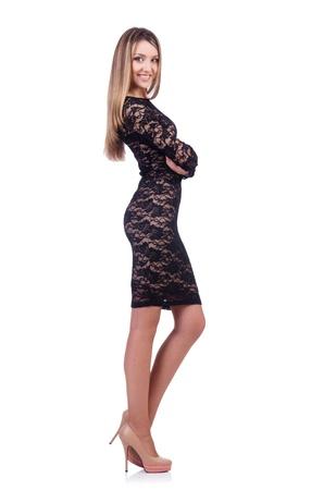 Model wearing fashionable clothing on white Stock Photo - 21309229