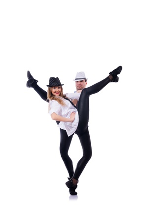 Pair of dancers dancing modern dances Stock Photo - 21309235