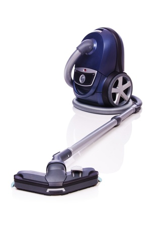 Vacuum cleaner isolated on the white photo