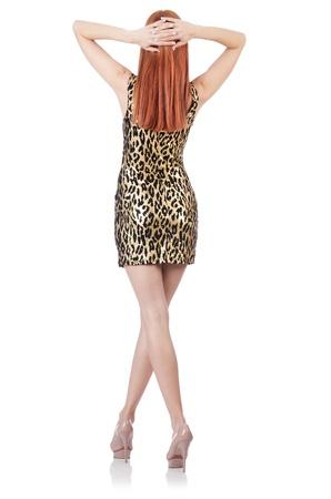 Model wearing fashionable clothing on white Stock Photo - 21308721
