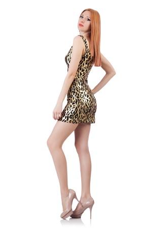 Model wearing fashionable clothing on white Stock Photo - 21308722