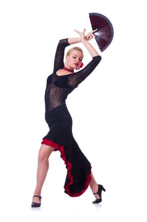 Bailarina bailando danzas tradicionales