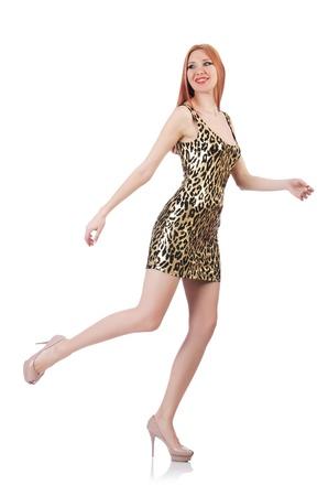 Model wearing fashionable clothing on white Stock Photo - 21515995