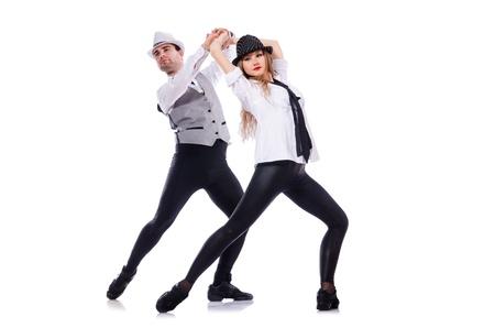 Pair of dancers dancing modern dances Stock Photo - 21747095