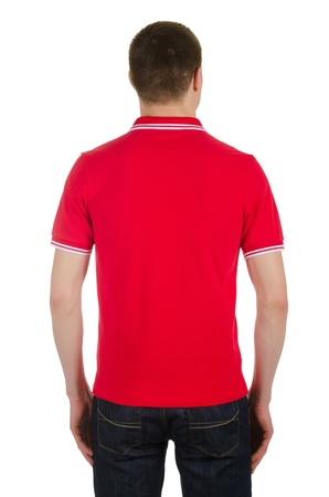 Male t-shirt isolated on the white background Stock Photo - 21756938