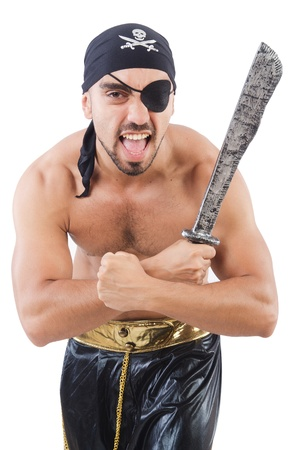 Man in pirate costume in halloween concept Stock Photo - 22064332