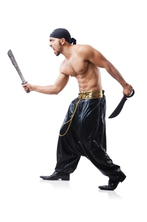 Man in pirate costume in halloween concept Stock Photo - 22064341