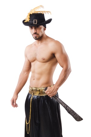 Man in pirate costume in halloween concept Stock Photo - 22064342