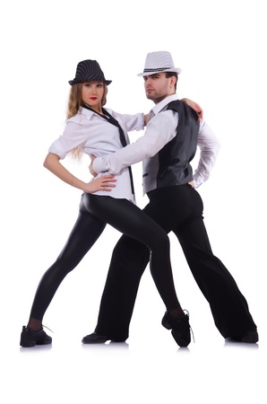 Pair of dancers dancing modern dances Stock Photo - 22047146
