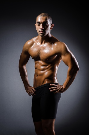 Ripped young man in bodybuilding concept Stock Photo - 22046754