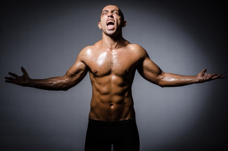 Ripped young man in bodybuilding concept Stock Photo - 22046756