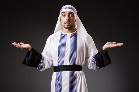 qameez: Arab man in deep thinking mode