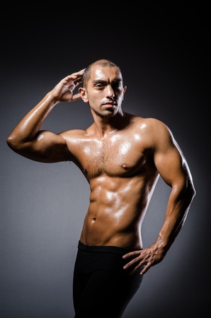 Ripped young man in bodybuilding concept Stock Photo - 22128388