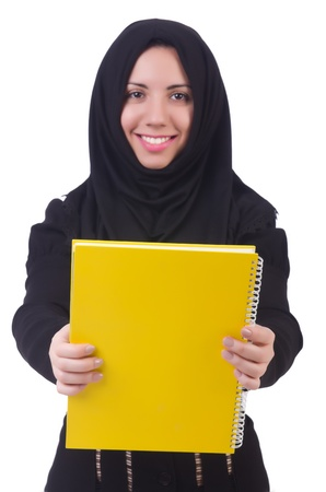Young muslim female student with books Stock Photo - 22128326