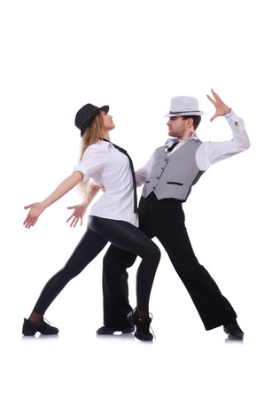 Pair of dancers dancing modern dances Stock Photo - 22277951