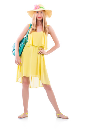 Young woman preparing for vacation Stock Photo - 22277964