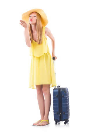 Young woman preparing for vacation Stock Photo - 22277967