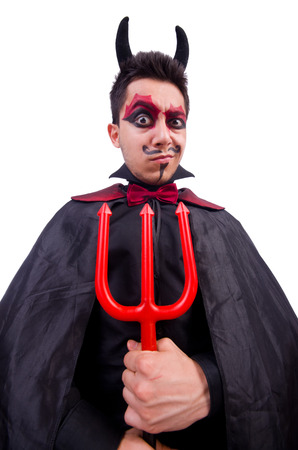 Man in devil costume in halloween concept Stock Photo - 22277968