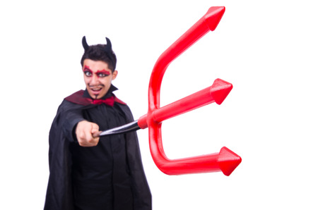 Man in devil costume in halloween concept Stock Photo - 22277970
