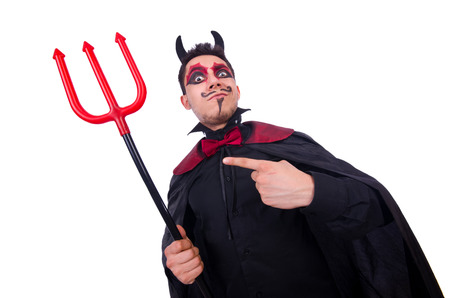 Man in devil costume in halloween concept Stock Photo - 22277977
