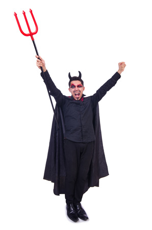 Man in devil costume in halloween concept Stock Photo - 22277978