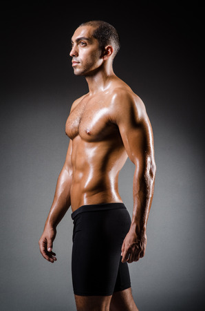 Ripped young man in bodybuilding concept Stock Photo - 22276740