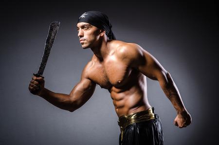 ripper: Ripper pirate in the dark room Stock Photo
