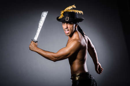 Ripper pirate in the dark room Stock Photo - 22278017