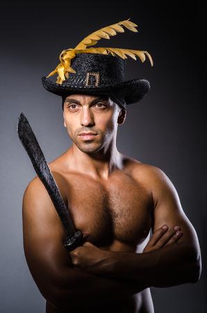 Ripper pirate in the dark room Stock Photo - 22278070