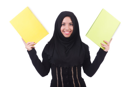 Young muslim female student with books Stock Photo - 22273870