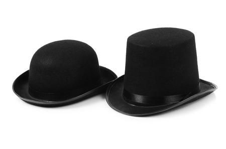tophat: Cappello nero tophat isolato sul bianco