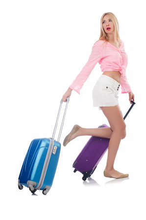 Woman preparing for travel on summer vacation Stock Photo - 22328493