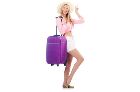 Woman preparing for travel on summer vacation Stock Photo - 22328509
