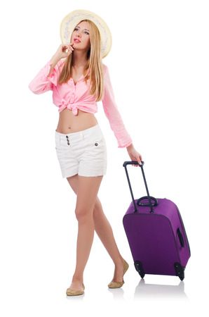 Woman preparing for travel on summer vacation Stock Photo - 22328510