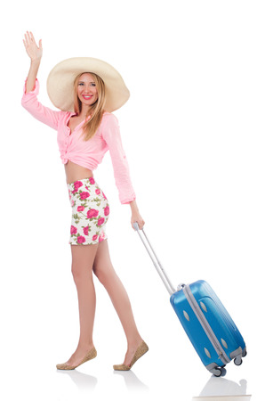 Woman preparing for travel on summer vacation Stock Photo - 22328518