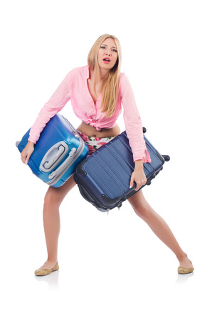 Woman preparing for travel on summer vacation Stock Photo - 22328524
