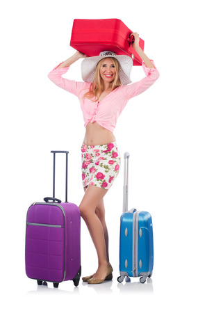 Woman preparing for travel on summer vacation Stock Photo - 22328534