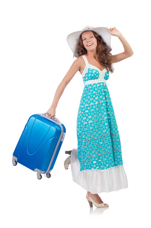 Woman preparing for travel on summer vacation Stock Photo - 22328538