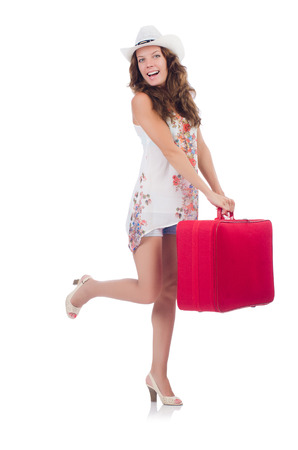 Woman preparing for travel on summer vacation Stock Photo - 22331908